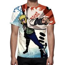 Camisa, Camiseta Anime Naruto Minato Namikaze -estampa Total