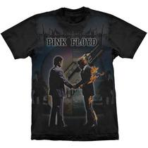 Camiseta De Banda - Pink Floyd - Premium - Stamp
