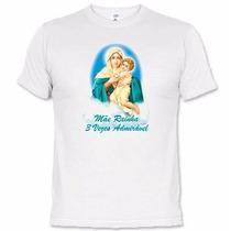 Camisetas Católicas Mãe Rainha 3 Vezes Admirável