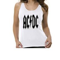 Camiseta Regata Banda Ac/dc - Feminino