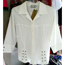 Blusa Bata Top Tunica Branca Tricoline