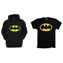 Combo Blusa Com Camiseta Batman