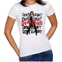 Camiseta Baby Look Demi Lovato 2015