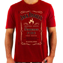 Camiseta Jack Daniels Fire - Exclusiva - Whiskey - Rock