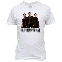 Camiseta Supernatural Dean E Sam Winchester Castiel
