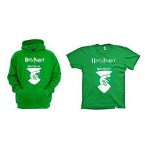 Combo Blusa Com Camiseta Harry Potter Slytheryn