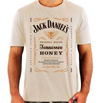 Camiseta Jack Daniels Honey - Whiskey - Rock - Exclusiva
