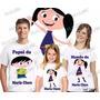 Lembrança De Aniversario Show Da Luna Camiseta Kit Com 3
