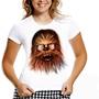 Camiseta Chewbacca Star Wars Baby Look Feminina Filme Série