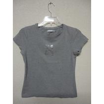Camiseta Feminina Zara Collection Cinza Original Tamanho G
