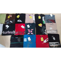 Kit 10 Camisetas Quilsilver Hurley Billabog Ripcurl Original