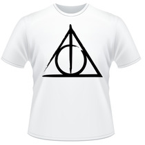 Camiseta Harry Potter Relíquias Da Morte Frente Verso Camisa