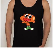 Camiseta Regata Desenho O Incrível Mundo De Gumball