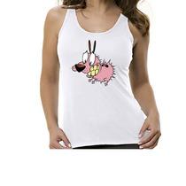 Camiseta Regata Desenho Coragem O Cão Covarde - Feminino