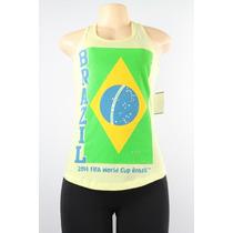 Fifth Sun Do Mundo Da Fifa Brasil 2014 Regata Amarelo