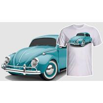 Camiseta Vw Fusca Original Azul