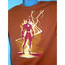 Camiseta Super Heroi Flash Dc Comics Usa Imp Xg