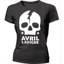 Camisa Avril Lavigne - Caveira - Babylook - 100% Algodão