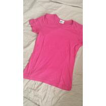 Camiseta Rosa Pink M Nova Linda 100% Algodao