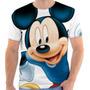 Camiseta Camisa Mickey Mouse Estampada, Masculina E Feminina