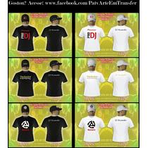 Kit Camiseta E Boné. Pioneer, Serato, Technics, Numark, Dj,