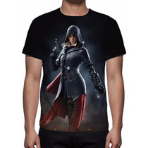 Camisa, Camiseta Game Assassins Creed Syndicate - Evie Frye