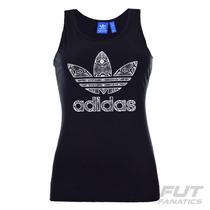 Regata Adidas Trefoil Originals Feminina Preta - Futfanatics