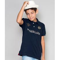 Polo Infantil Paco Kids - Azul Marinho