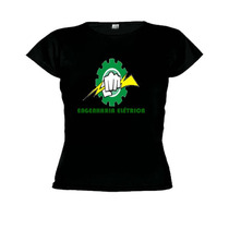 Camiseta Baby Look Curso Engenharia Elétrica - Feminino