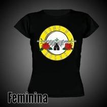 Camiseta Feminina Guns N Roses- Codigo Bl0491-tamanhos P E M