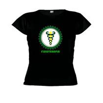 Camiseta Baby Look Curso Físioterapia - Feminino