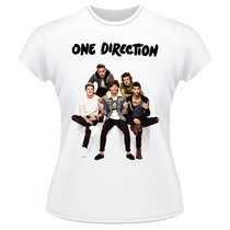 Baby Look One Direction Frente Verso Camiseta Feminina #3