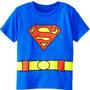 Camiseta Infantil Superman Ou Batman Com Batcinto Ou Super