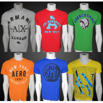 Camisetas Abercrombie Hollister Aeropostale Armani Calvin Fg