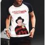 Camiseta Raglan Halloween Freddy Krueger Terror Pesadelo