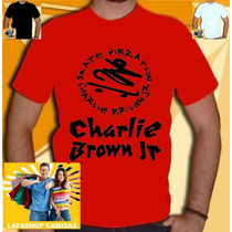 Camiseta Charlie Brown Jr Camisa Banda Normal Vermelha Cbjr