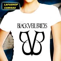 Camisa Bvb Banda Black Veil Brides Baby Camiseta Feminina