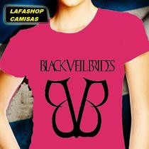 Bvb Banda Black Veil Brides Camisa Baby Look Camiseta Mulher