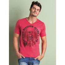 Camiseta Masculina Gola V Vermelha - Roupa P M G Gg