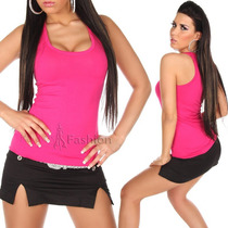Regata Feminina Em Malha Viscose Blusa Top Renda Camiseta