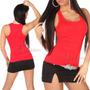 Plus Size Camiseta Tamanho Grande Regata Feminina Da Moda