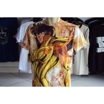 Camisa Ou Camiseta Cavaleiros Do Zodiaco Aiolia De Leão