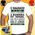 Camisa Machado Assis Manoel Jorge Amado Camiseta Masculina