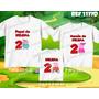 Kit Camisetas Personalizadas Aniversario Familia Pig Pepa