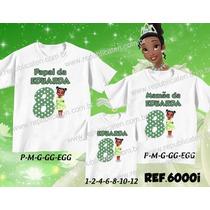 Kit Camisetas Personalizadas Aniversário Princesas Tiana