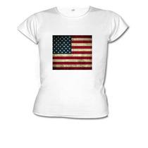Camiseta Baby Look Bandeira Estados Unidos