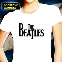 Camisa The Beatles Baby Look Feminina Camiseta Mulher Banda