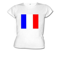 Camiseta Baby Look Bandeira França