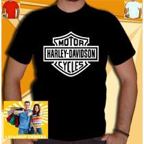 Camisa Harley Davidson Camiseta Motos Banda Rock Motocicleta