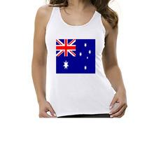 Camiseta Regata Bandeira Austrália - Feminino